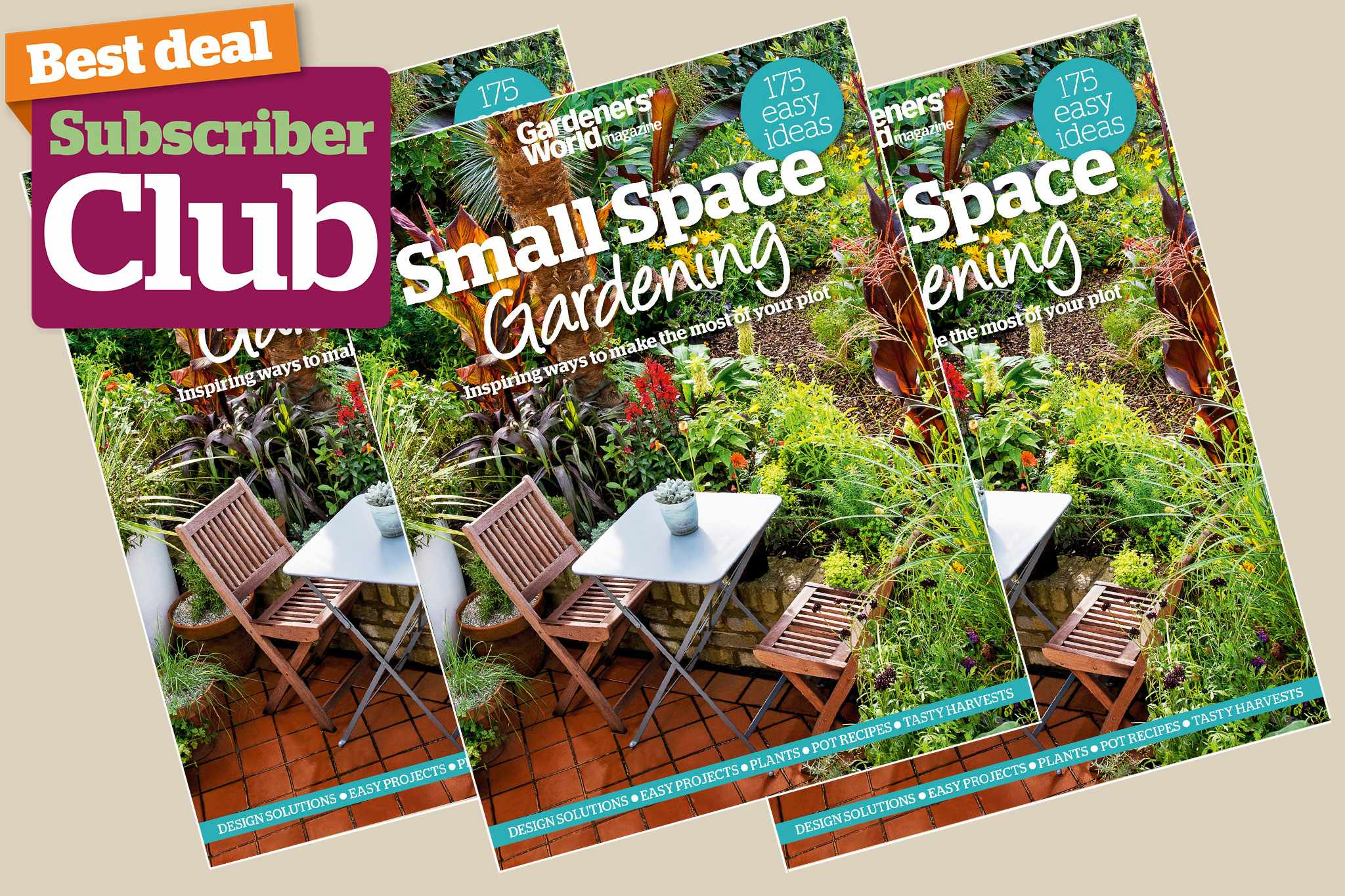 Small Space Gardening bookazine