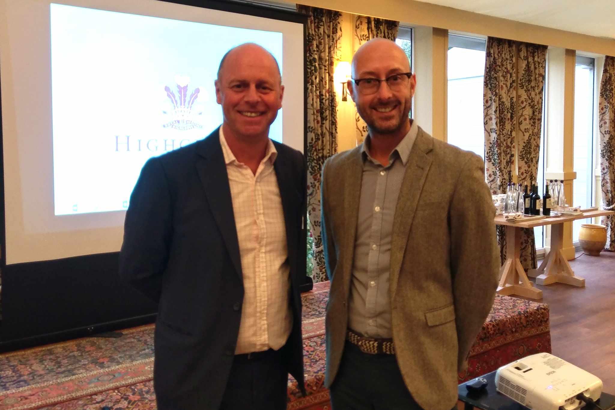 Joe Swift with Deputy Editor Kevin Smith