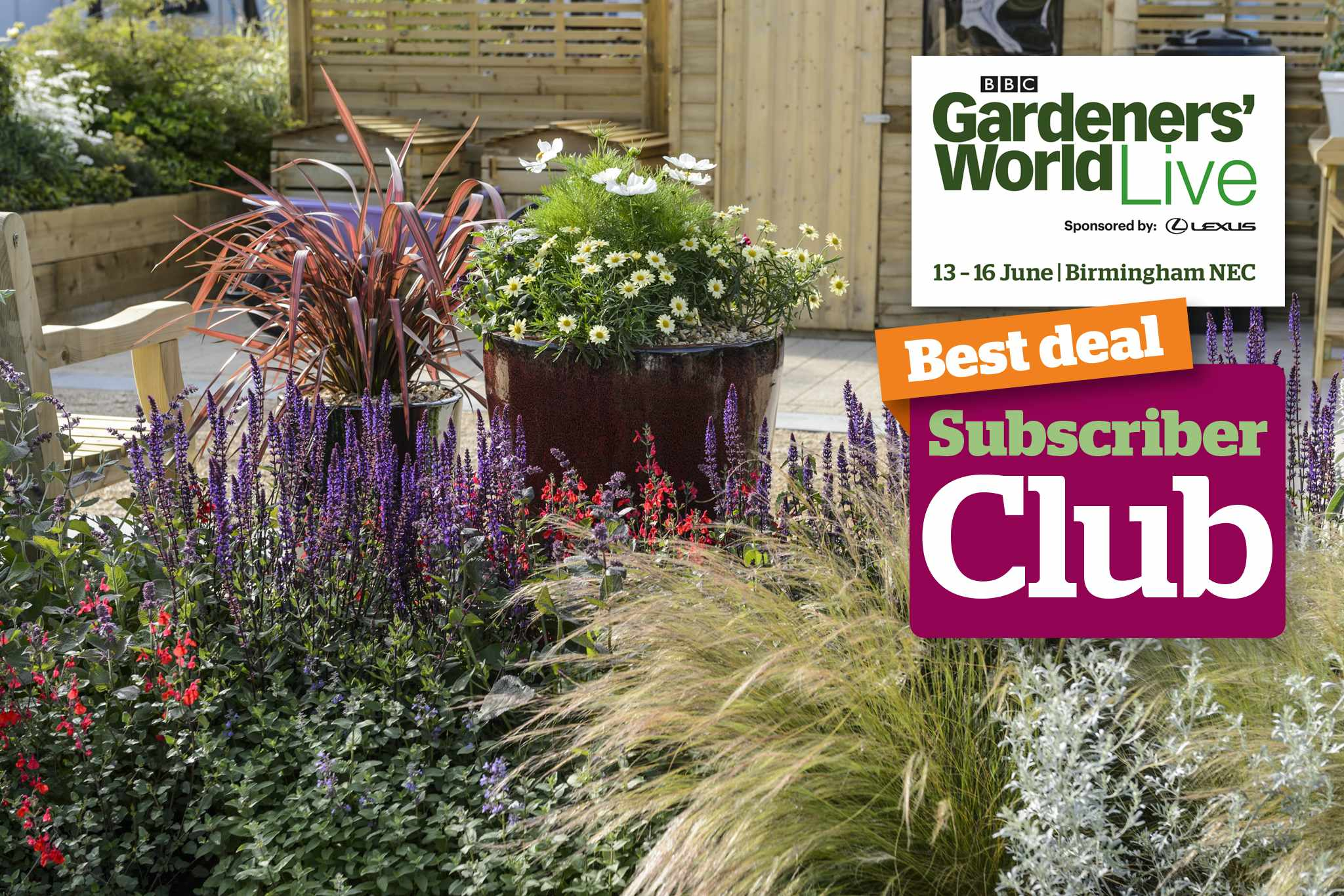 Gardeners' World Live 2019 subscriber club ticket offer