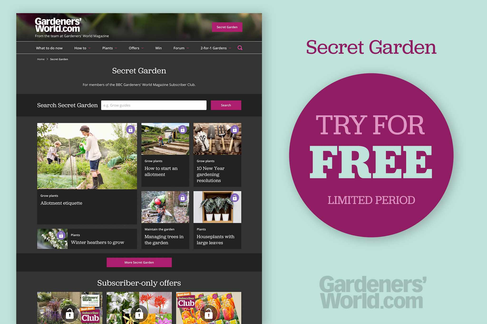 Try Secret Garden for free