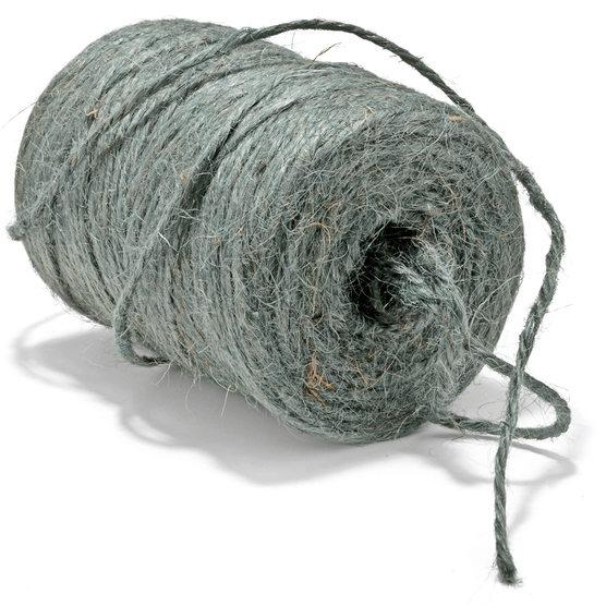 Green twine cut out