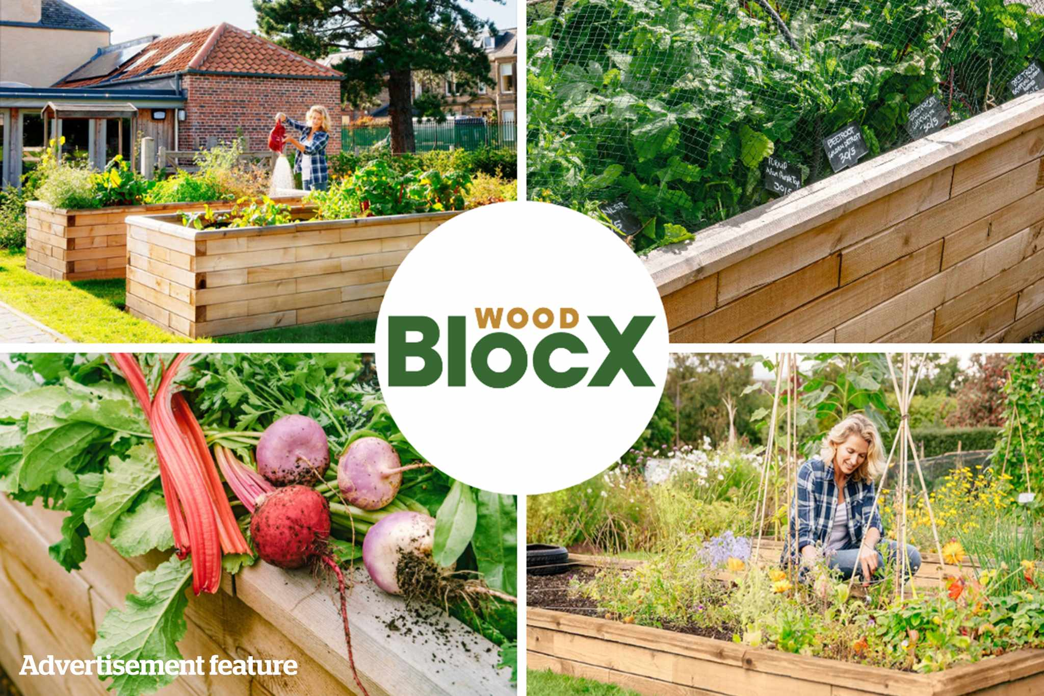 WoodBlocX raised beds