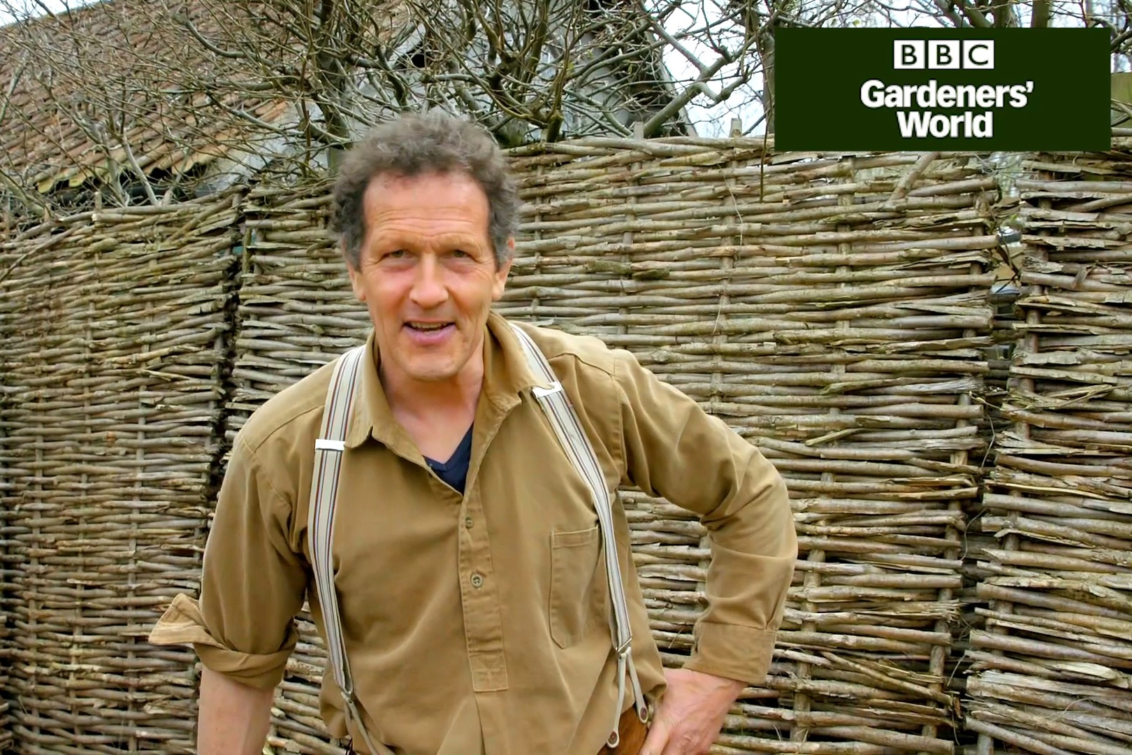 Monty Don building a hazel fence