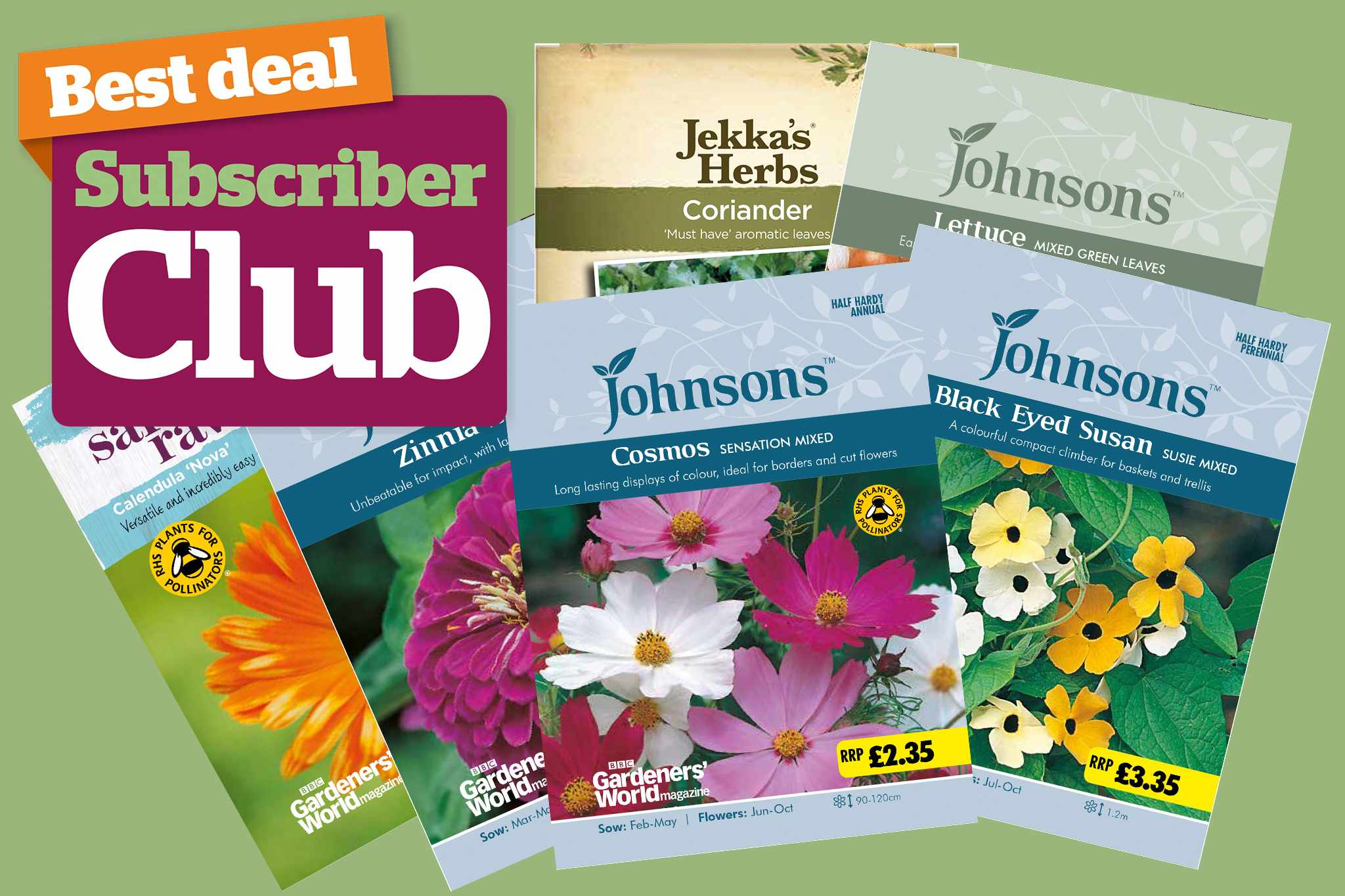 Subscriber Club competition seed bundles
