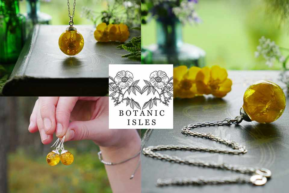 Buttercup jewellery collection from Botanic Isles