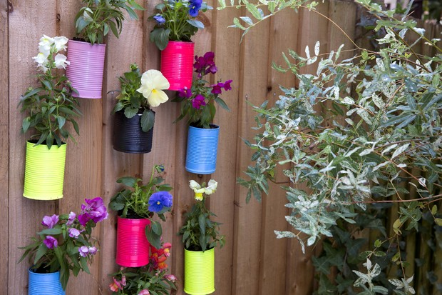 Gardening projects for kids - fence planters