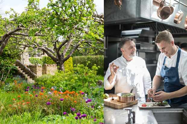 Garden tour and lunch at Le Manoir Quat'Saisons