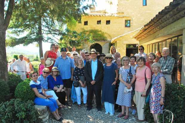Monty with guests at La Louve