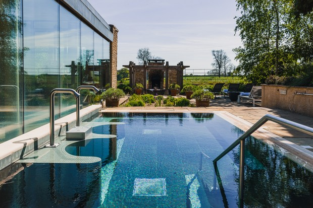 Outdoor hydrotherapy pool at Barnsley House
