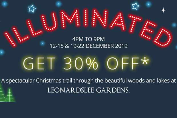 Save 30% on tickets for Illuminated, a Christmas trail at Leonardslee Gardens