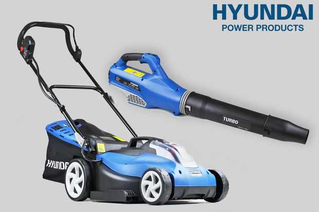 Win battery-powered Hyundai garden tools