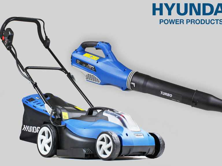 Win a battery-powered leaf blower and lawn mower