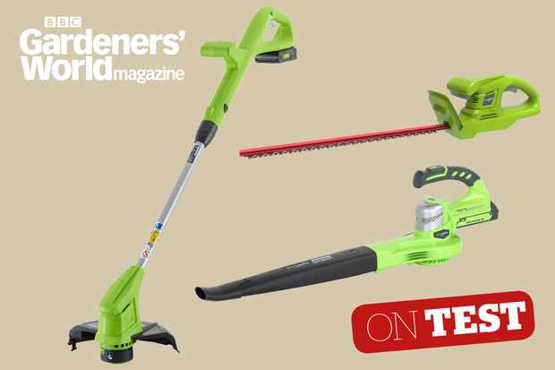 Greenworks 24V Cordless Series cordless tool system product review from BBC Gardeners' World Magazine