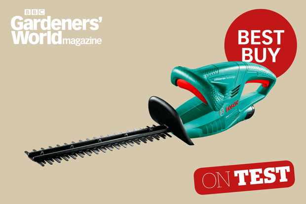 Bosch EasyHedgeCut hedge trimmer review from BBC Gardeners' World Magazine