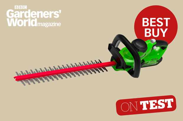 Greenworks G40HT61K2 hedge trimmer review from BBC Gardeners' World Magazine