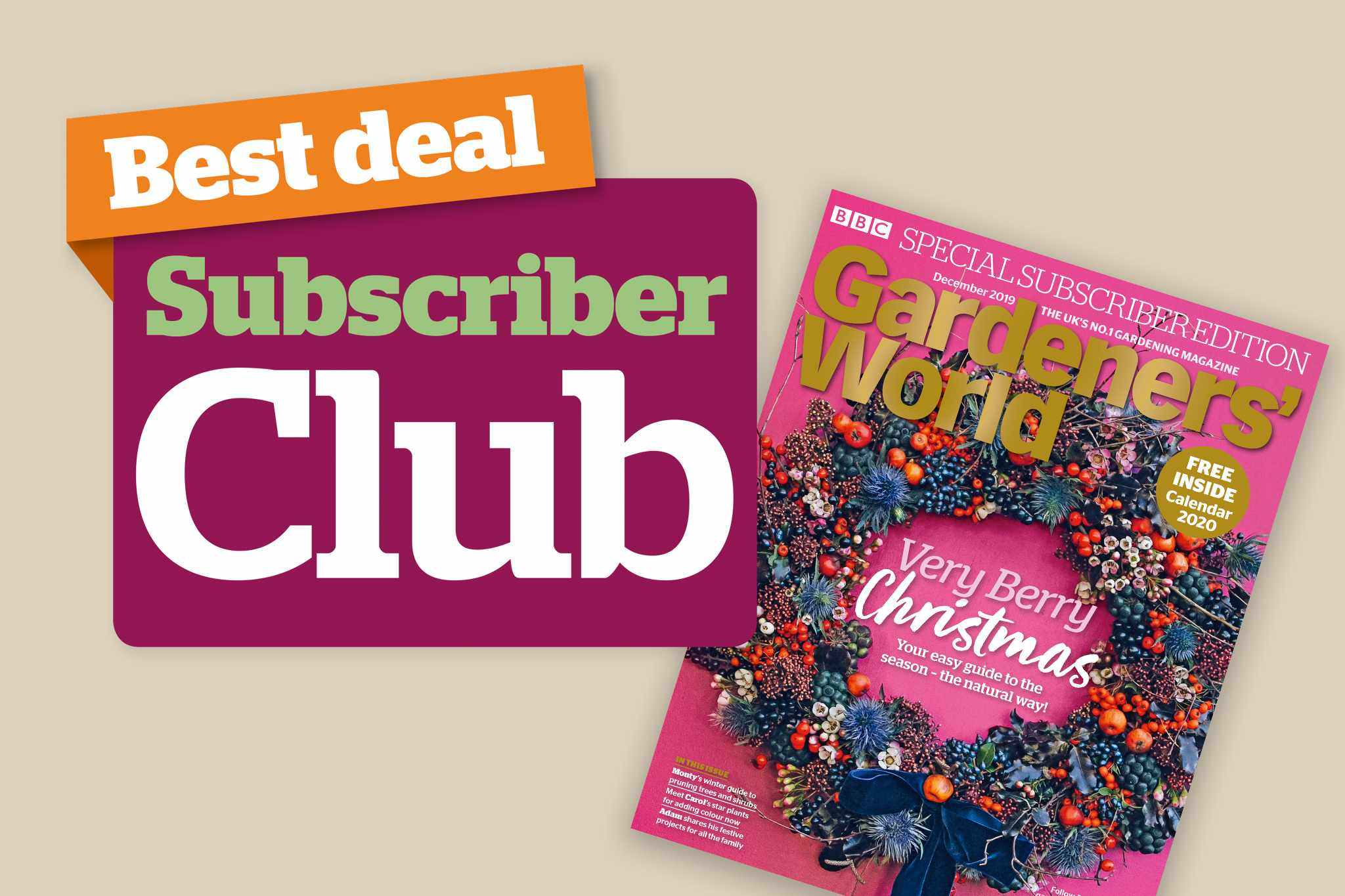 New December issue: Subscriber Club offers