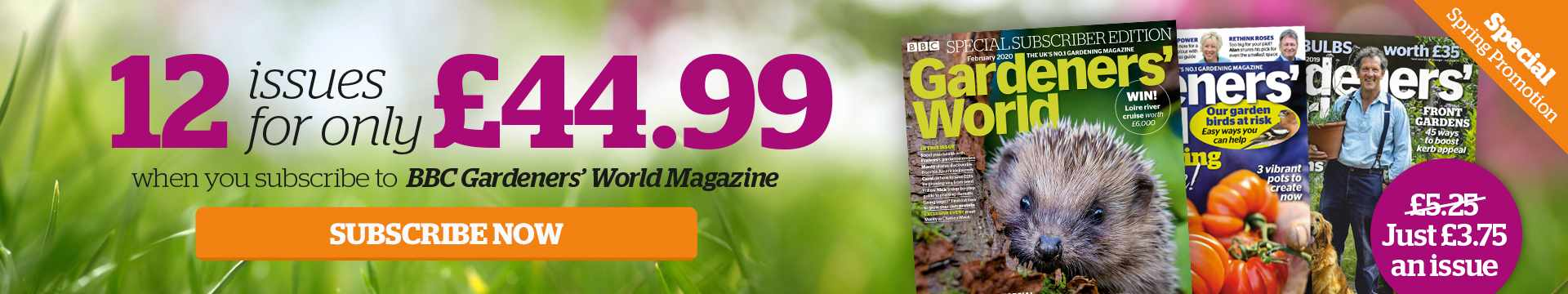 Save 29% on a BBC Gardeners' World Magazine subscription