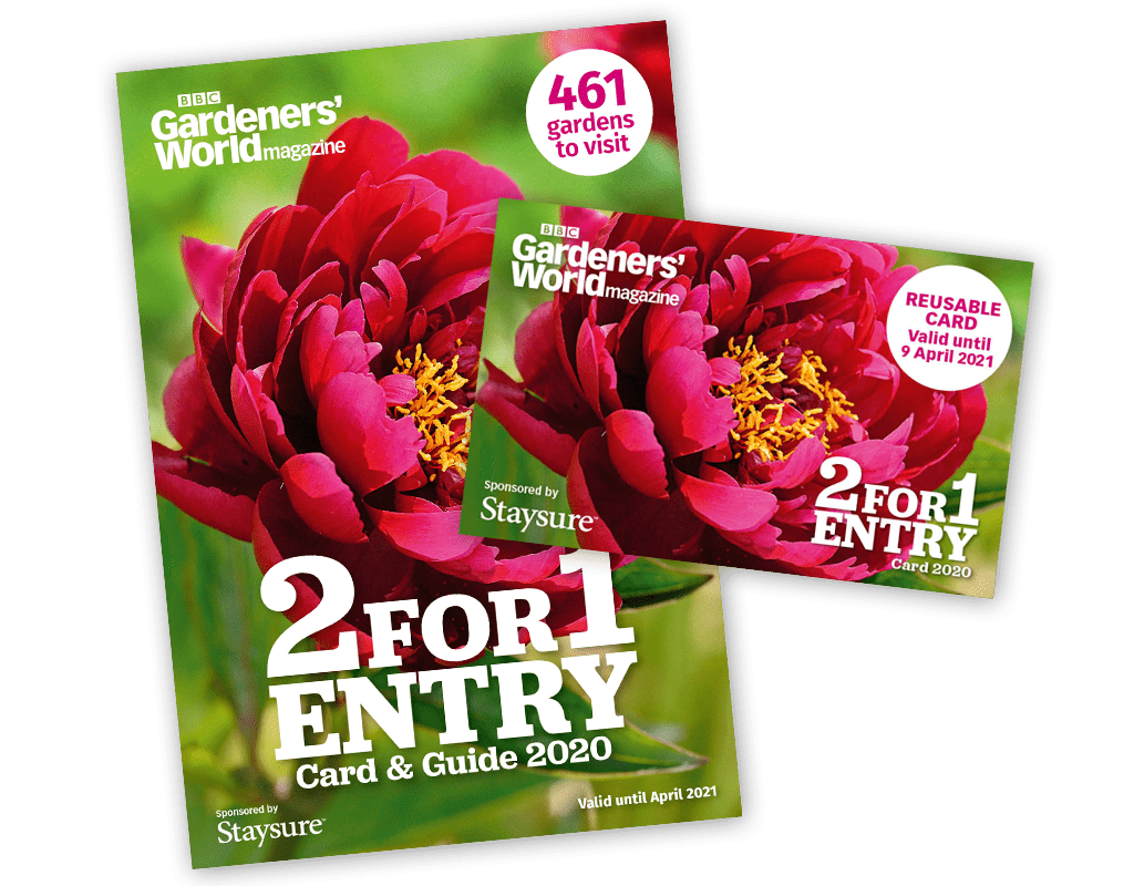 2-for-1 Gardens Card and Guide 2020 from BBC Gardeners' World Magazine