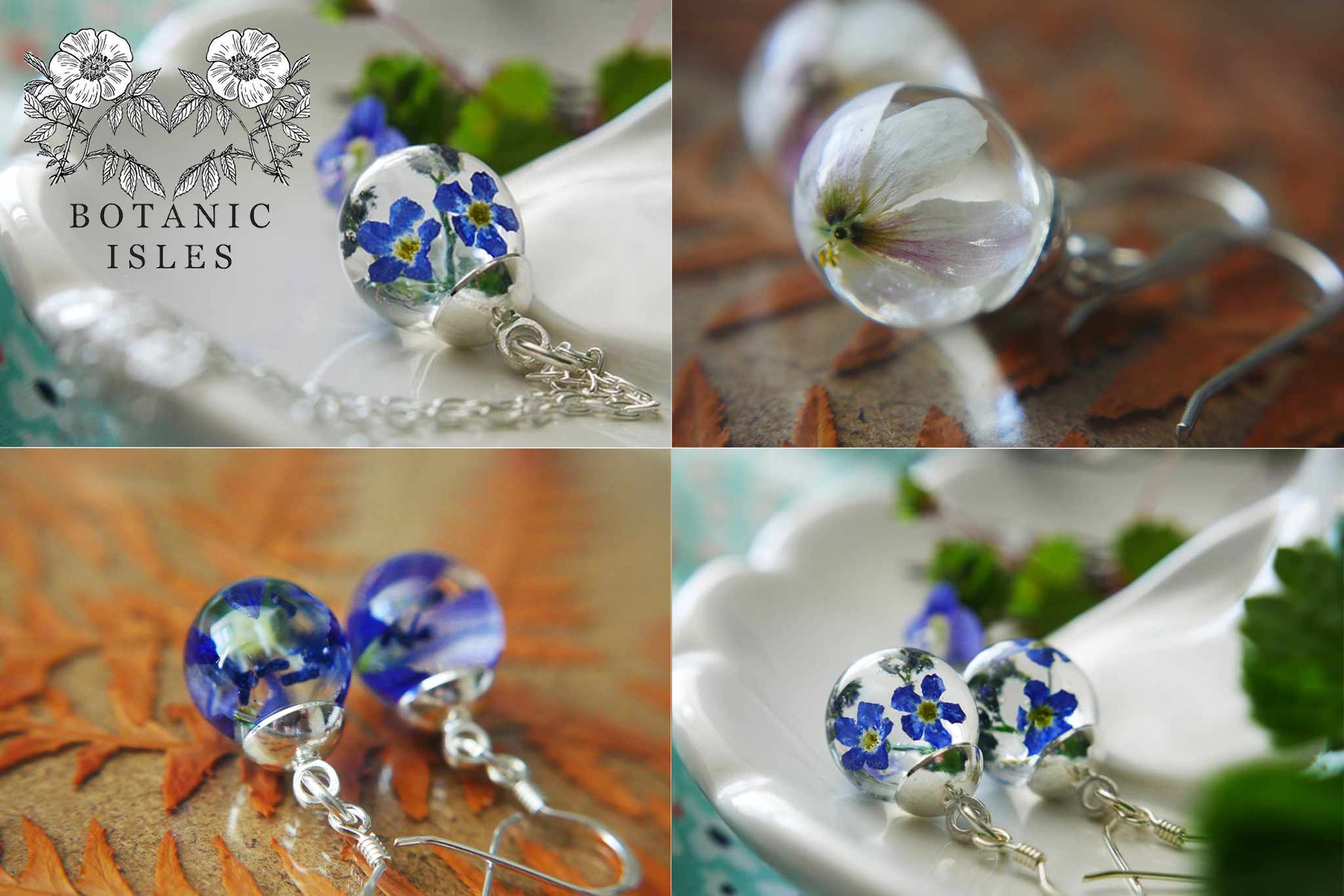 Win one of five set of wildflower jewellery from Botanic Isles