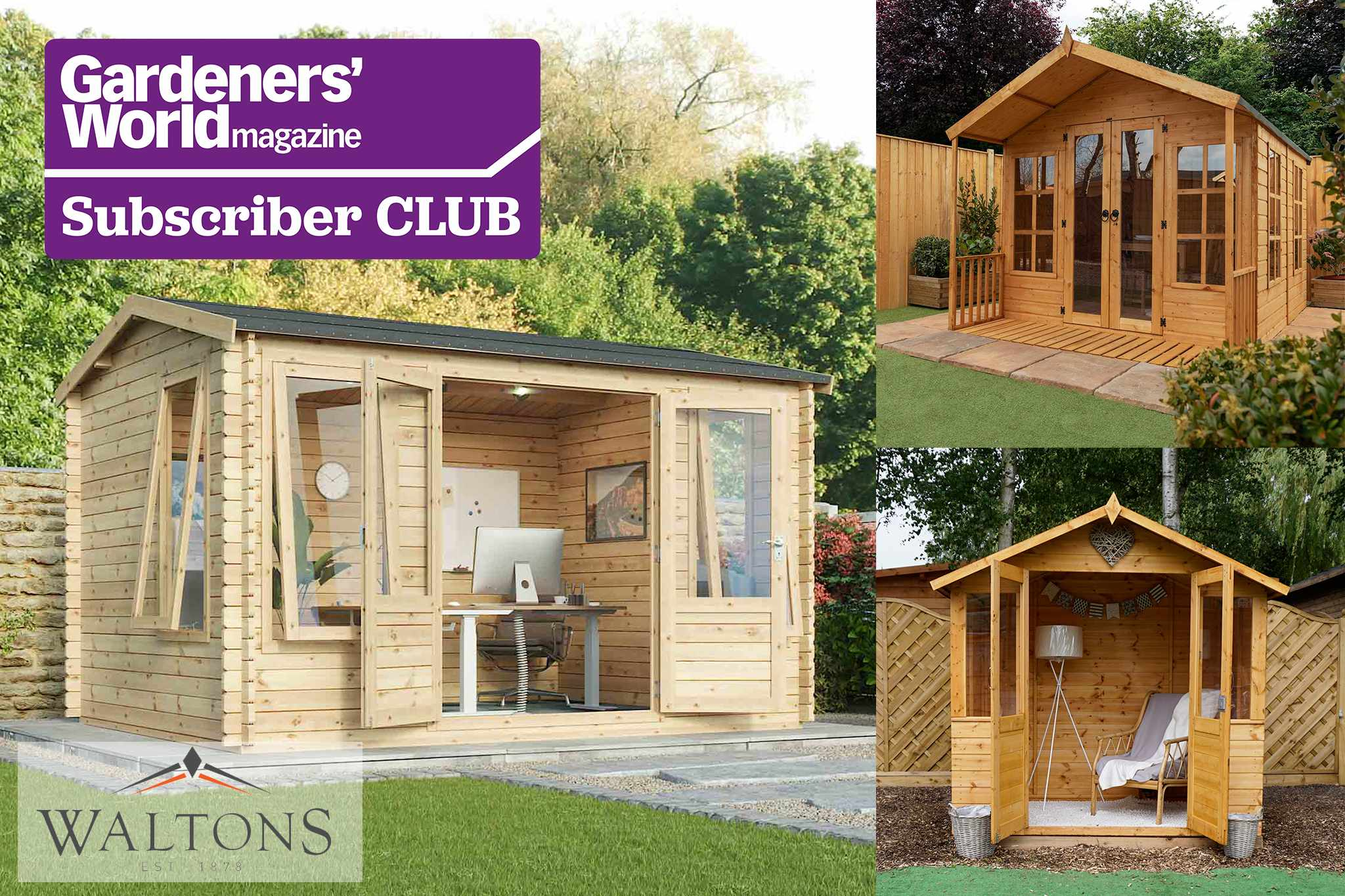 Subscriber Club competition: win one of three Waltons summerhouses