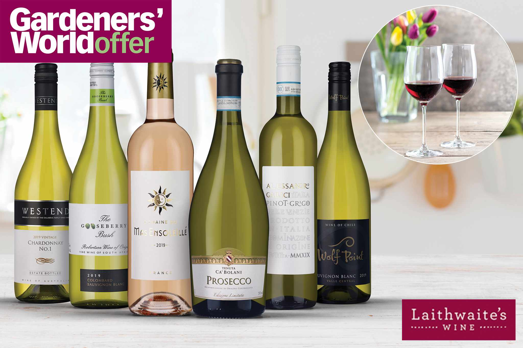 Save on summer wine, plus free wine glasses and delivery