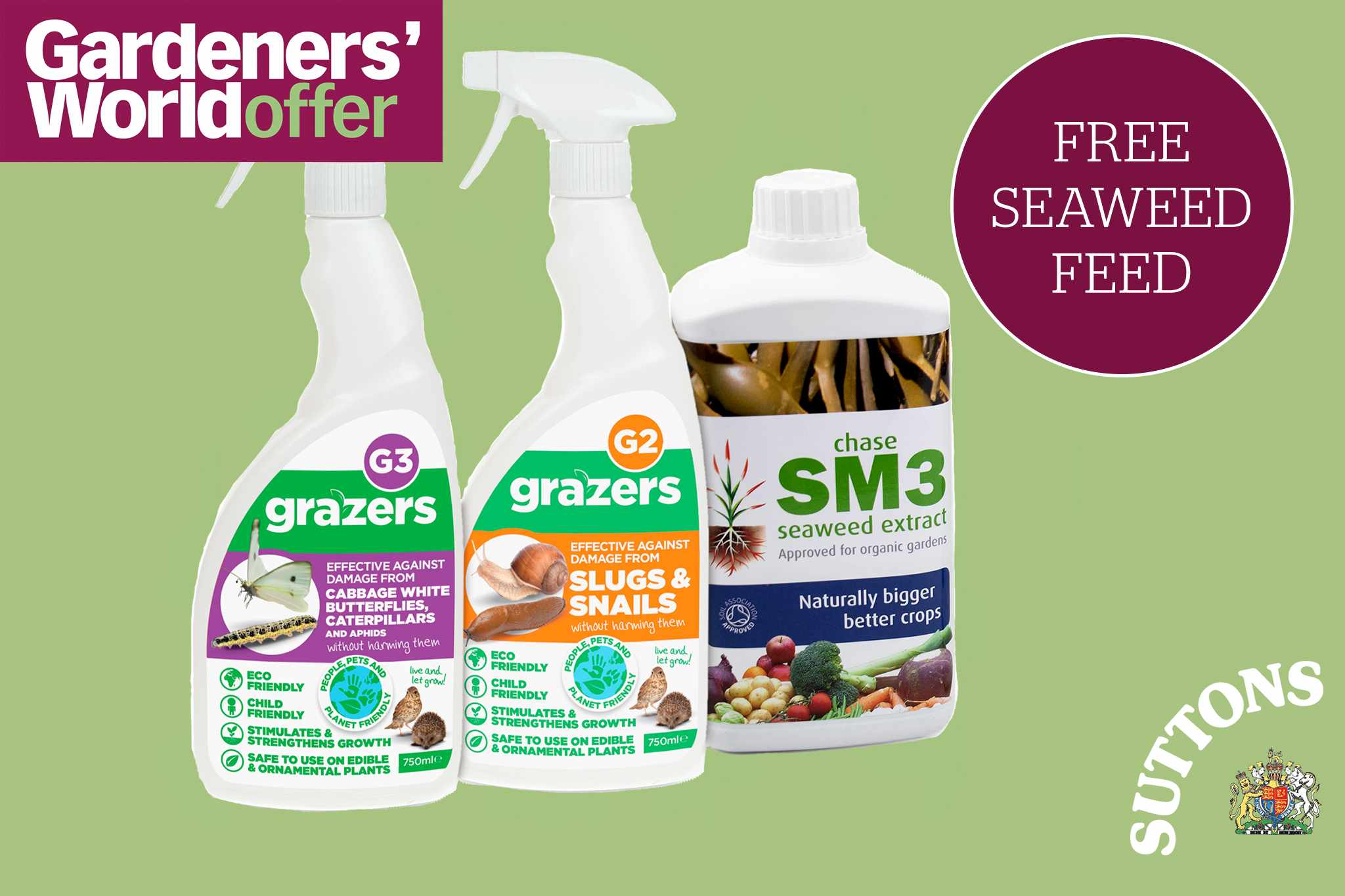 Suttons free* seaweed with pest control kit