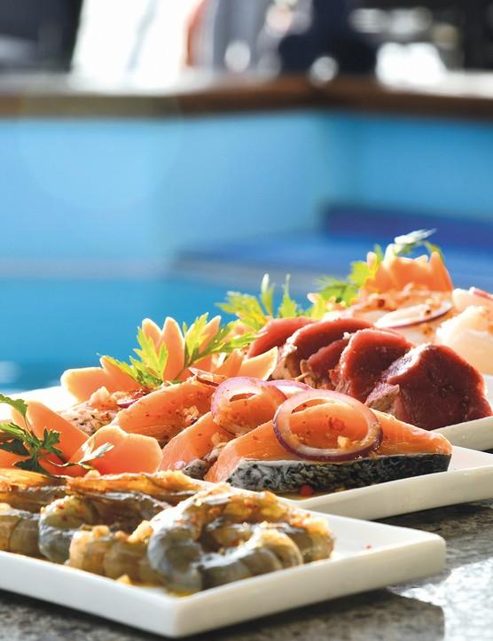 MV La Belle des Océans offers contemporary international and French cuisine