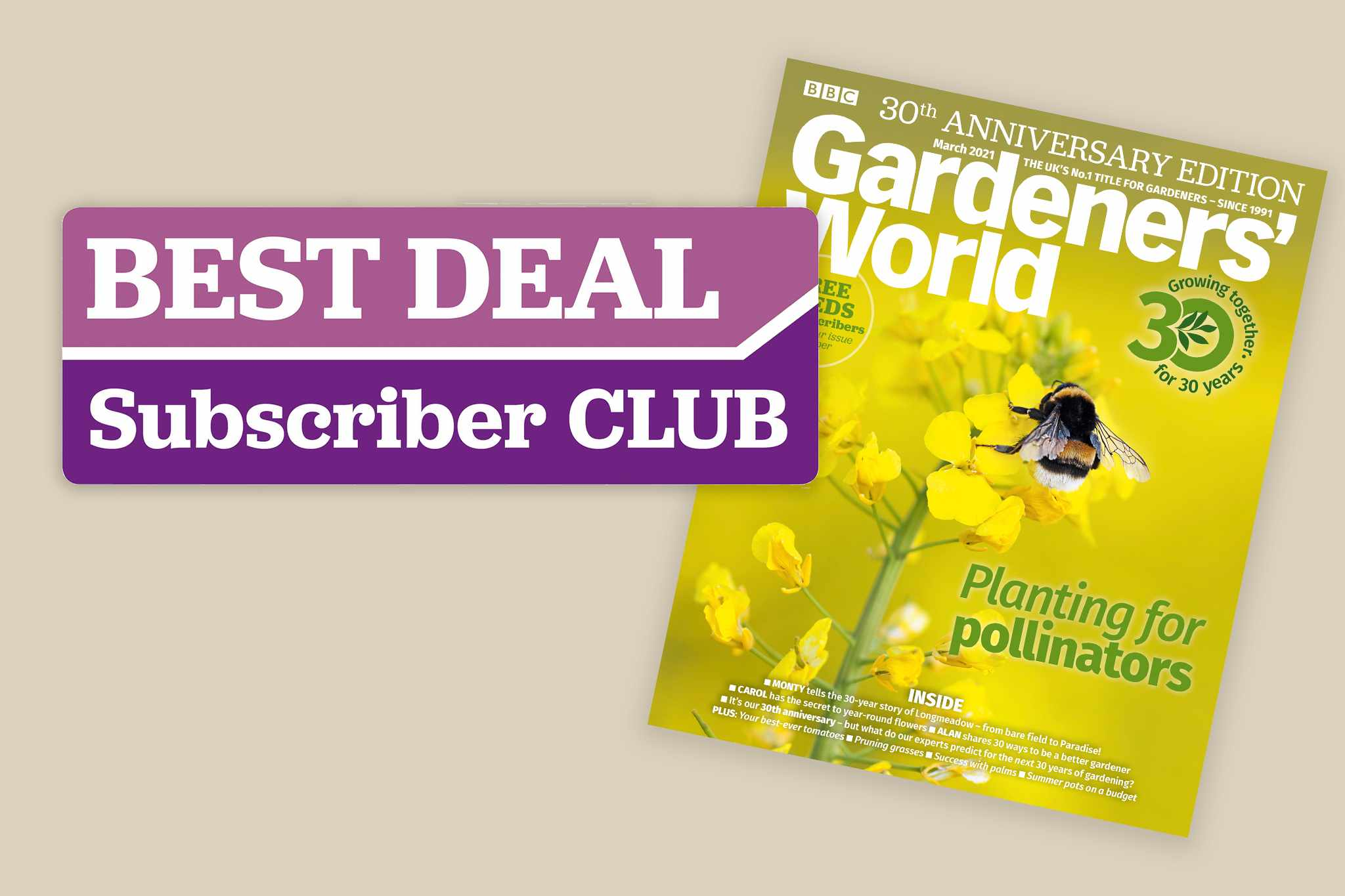 30th anniversary March issue - subscribers save 10% with our selected partners
