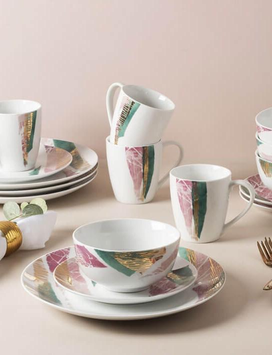Portmeirion Torn 16 Piece Porcelain Dinner Set