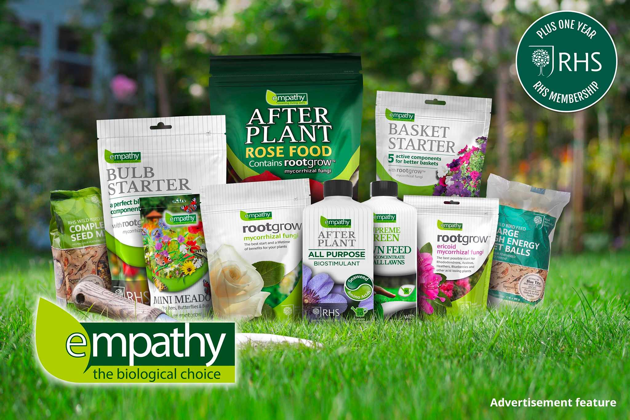 Win RHS Membership and Empathy plant products