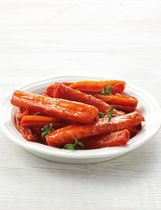 Sweet caramelised carrots