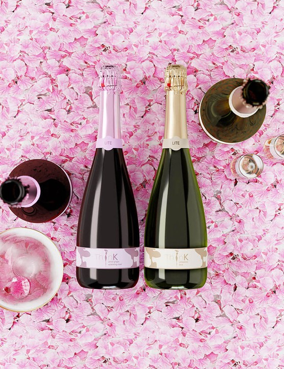 Bottle of ThinK Prosecco 75cl and Bottle of ThinK Pink 75cl