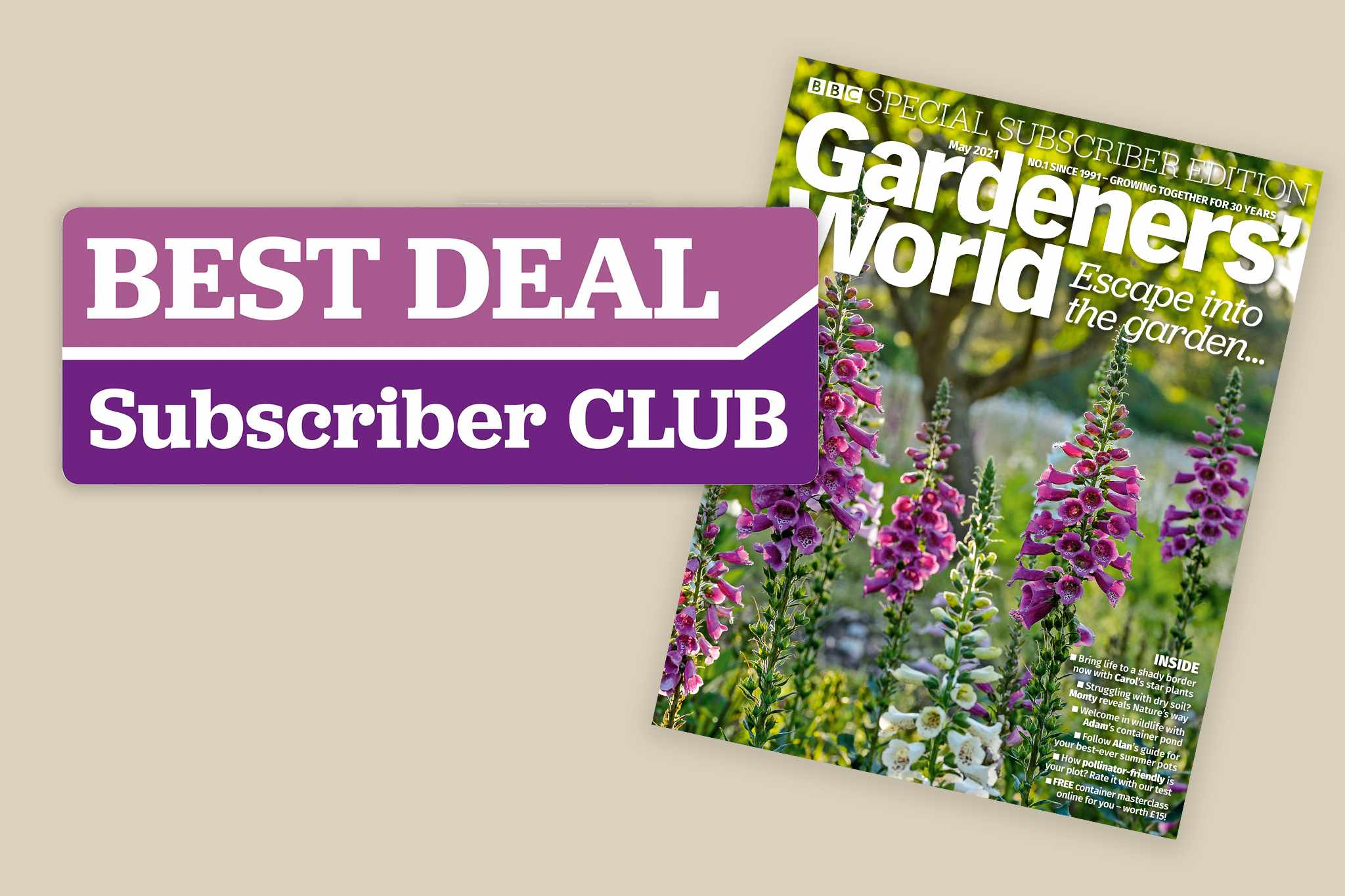 New May issue - subscribers save 10% with our selected partners
