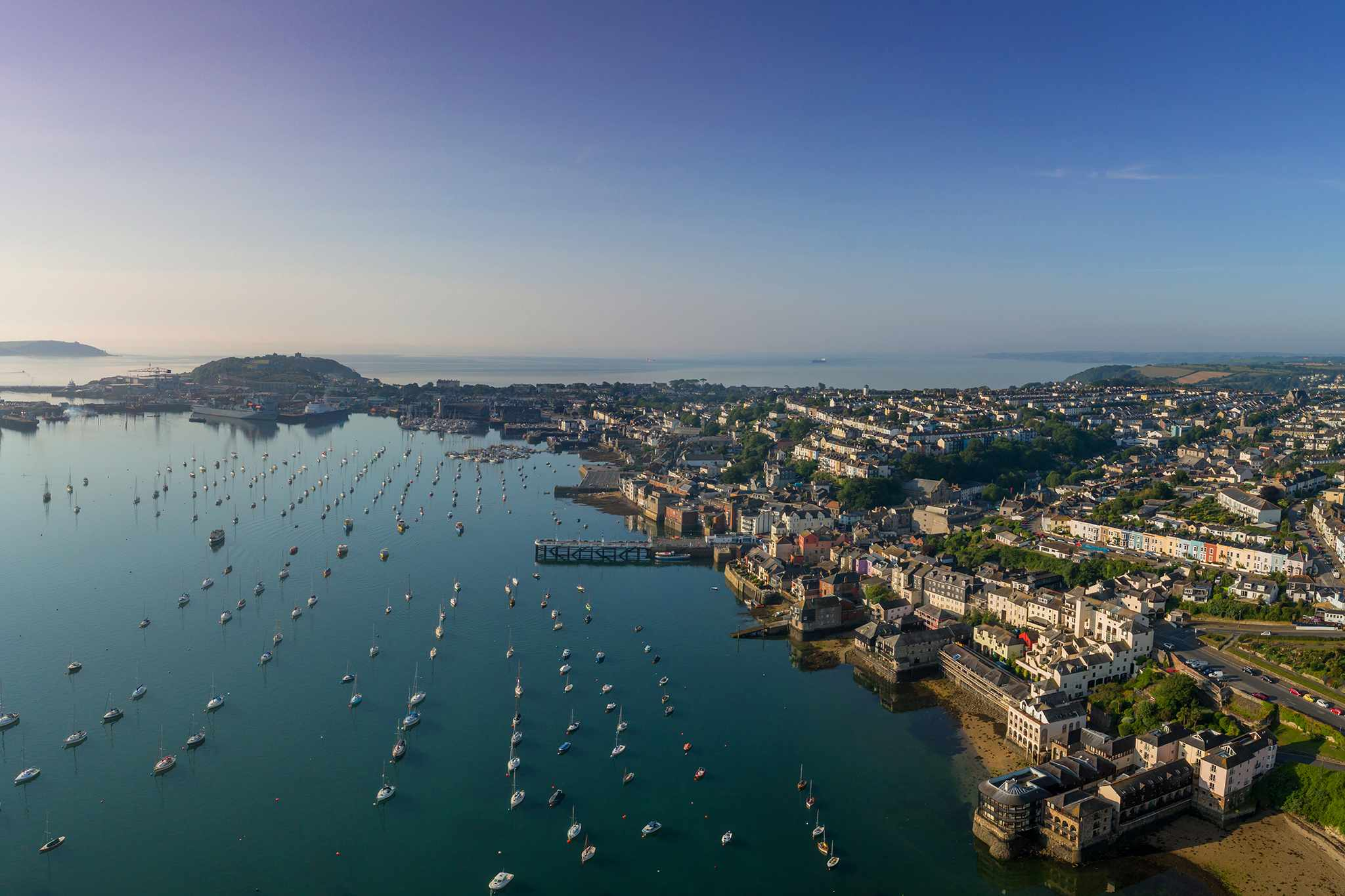 Connoisseur Travel - Aerial view of Falmouth