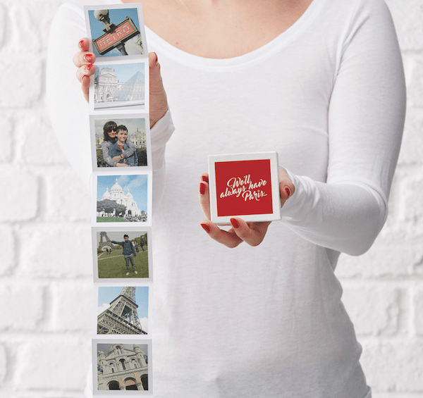 Holiday photos in mini photo box