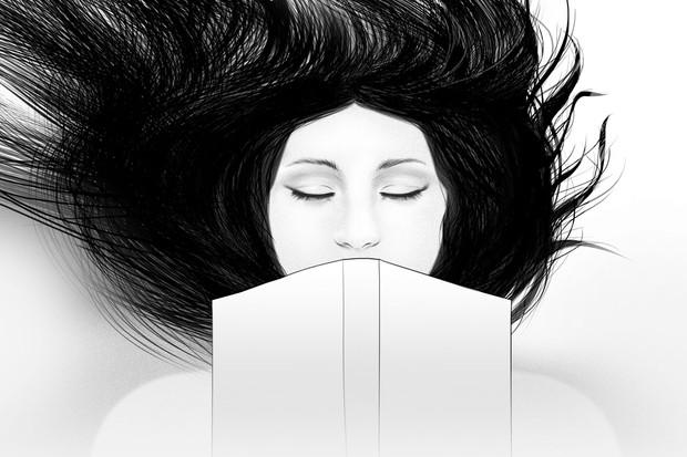 Jody Thomas illustration of a girl reading