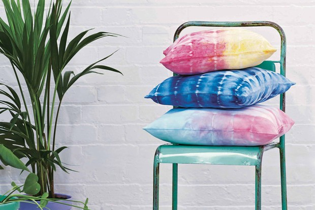 Sunset tie dye cushion cover