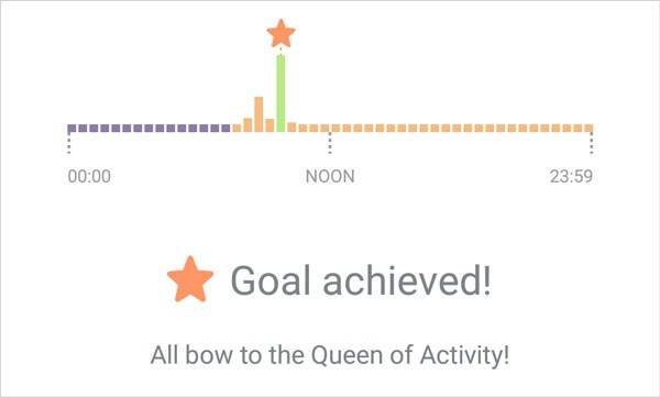 Bellabeat Leaf activity goal achieved