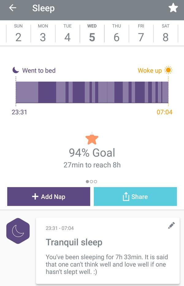 Bellabeat Leaf app sleep tracker
