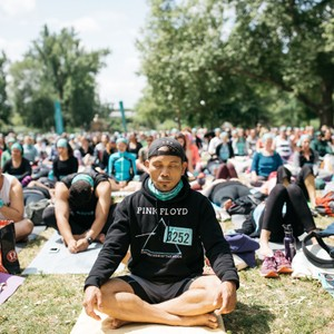 Wanderlust festival meditation session