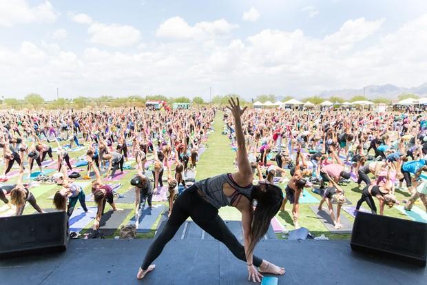 Wanderlust festival yoga class