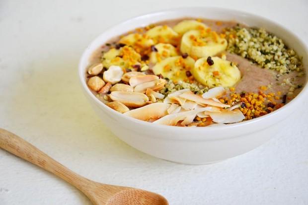 Chai tea smoothie bowl recipe