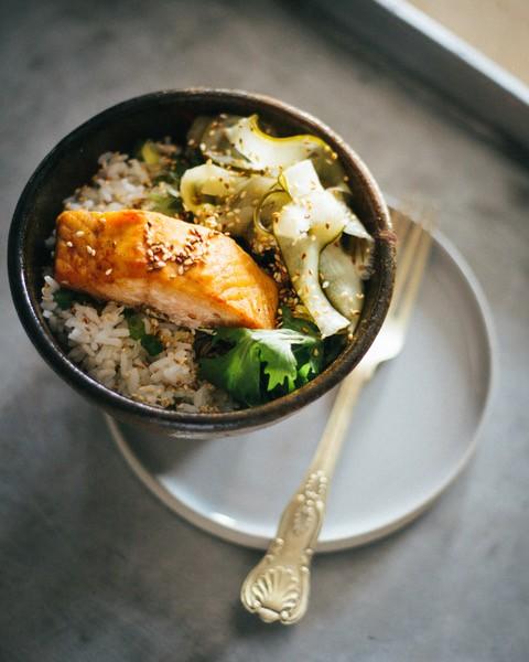 Bowl food – Emma Rice's recipe for salmon donburi