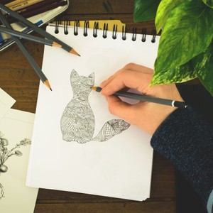 Digital detox doodling