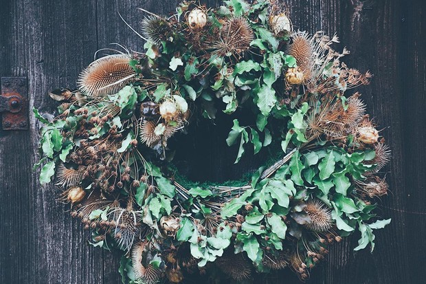 Gather twigs, pinecones and foliage to make a beautiful autumn wreath