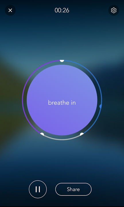 Calm app for panic attacks