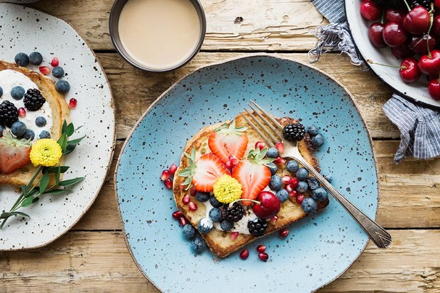 Fruit toast for breakfast
