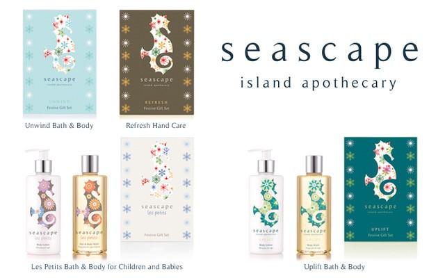 Seascape Island Apothecary festive gift set