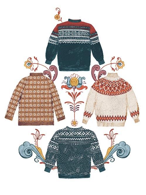 Norwegian jumper illustration