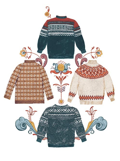 Norwegian jumper illustration